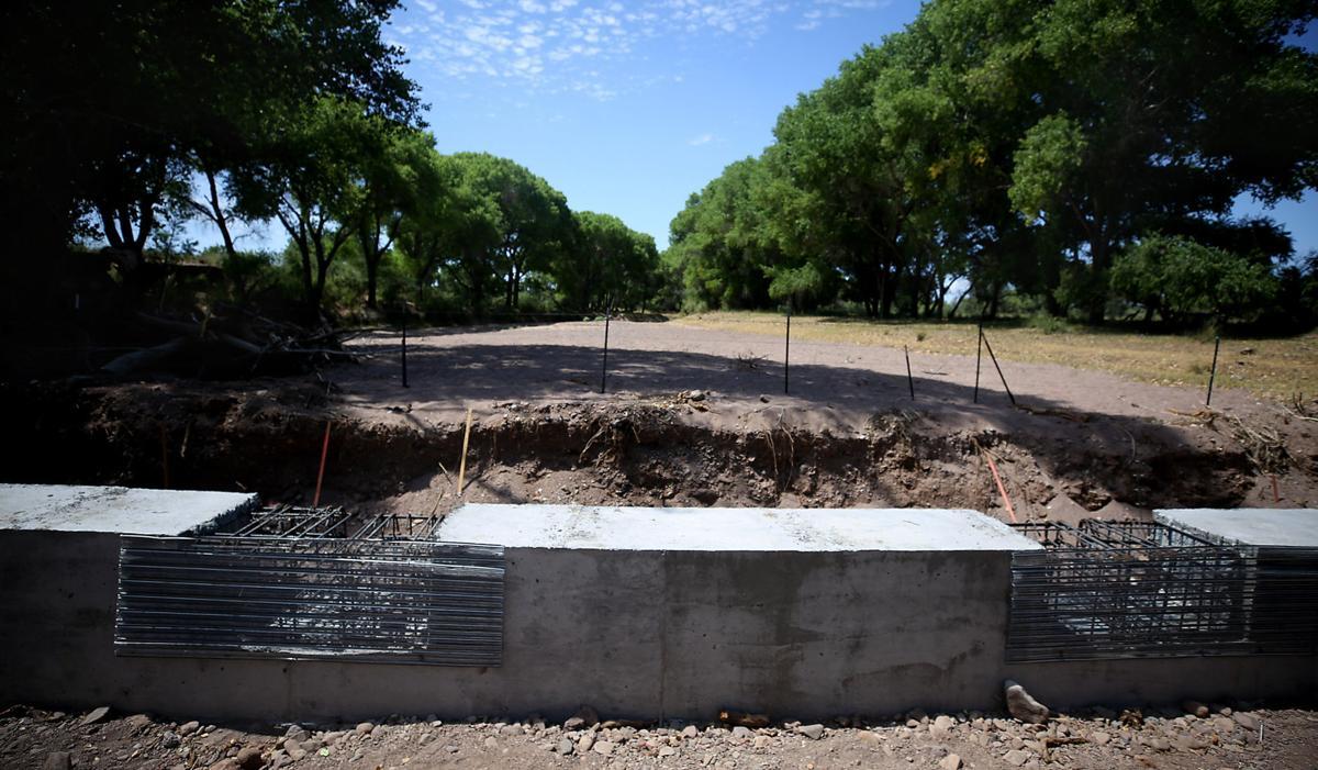 Border Wall, San Pedro River
