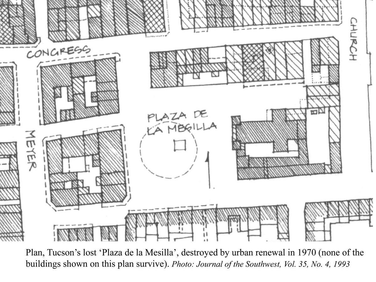 diagram of Placita de la Mesilla