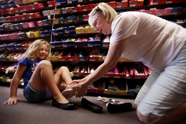 Back-to-school shoe shopping