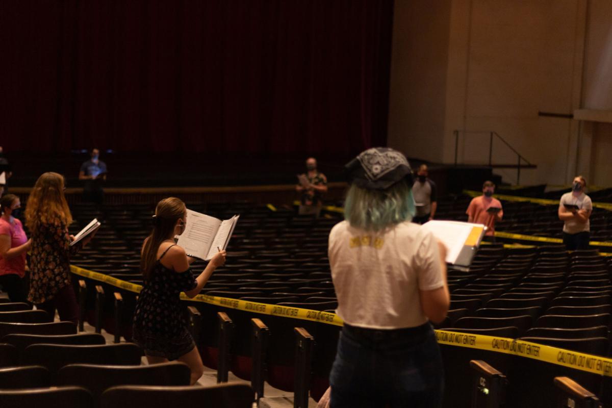 Socially distanced choir