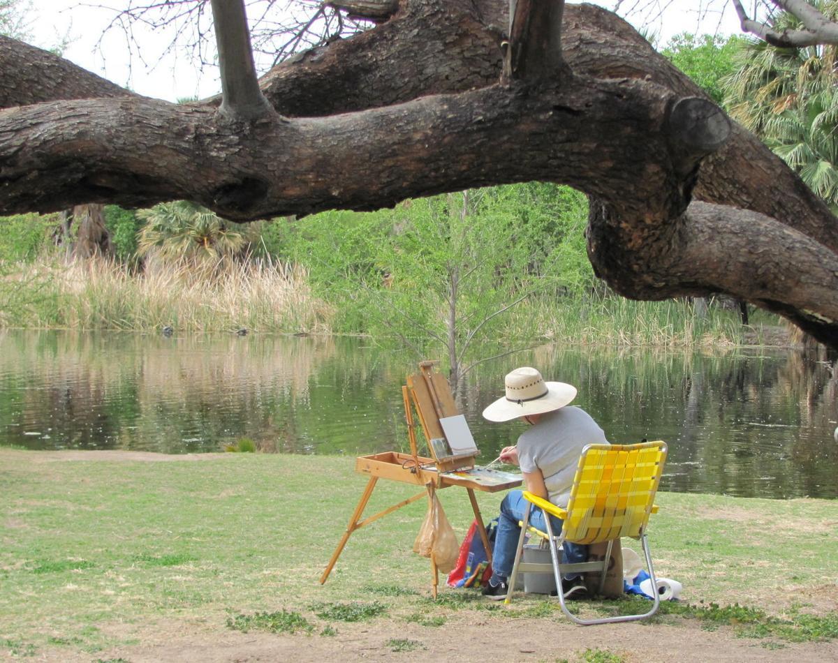 Painter at Agua Caliente Park