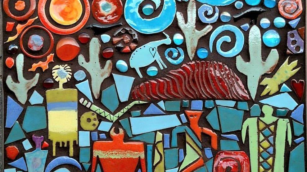 Tucson Artist Creates Colorful Mosaic Tiles Southwest Inspired Paintings Caliente Tucson Com