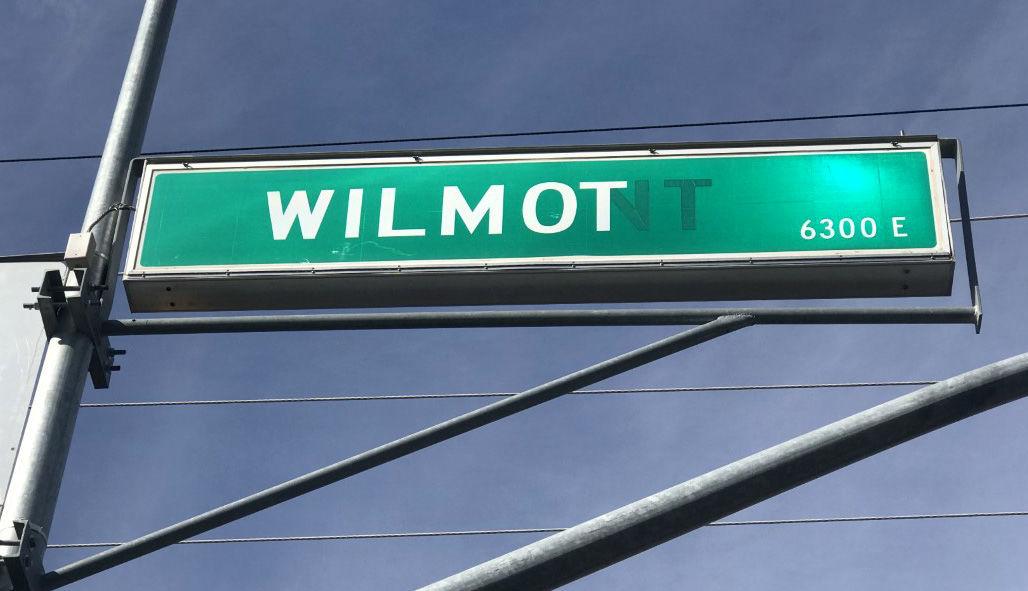 Misprinted street signs