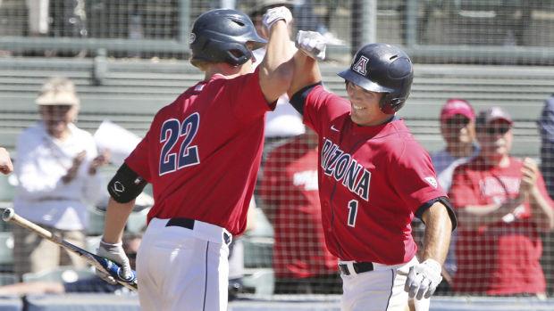Arizona Baseball: Dixon's inside-the-park HR 1 of 19 UA hits