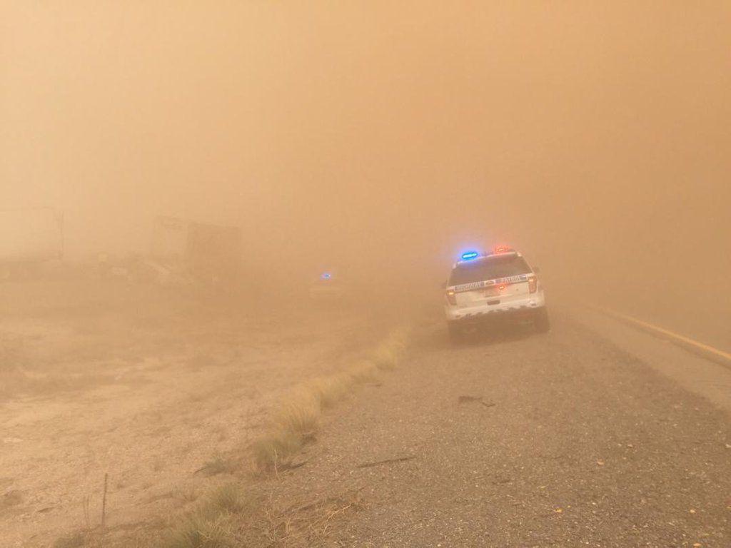 Dust storm near San Simon