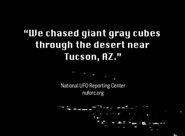 Chasing giant gray cubes through the desert