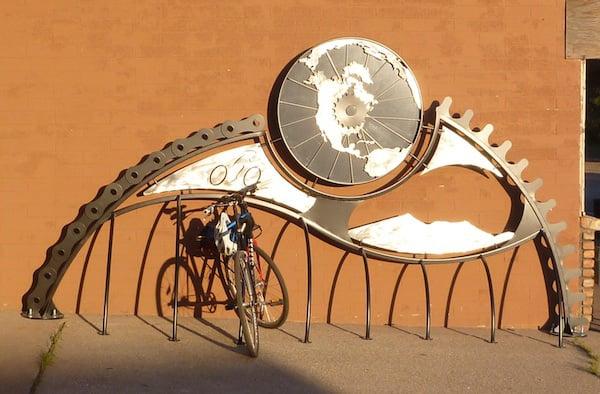 Bike shop sculpture theft