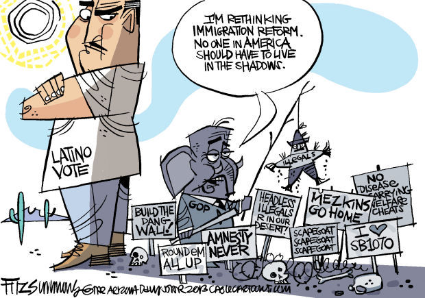 Daily Fitz Cartoon: In the shadows