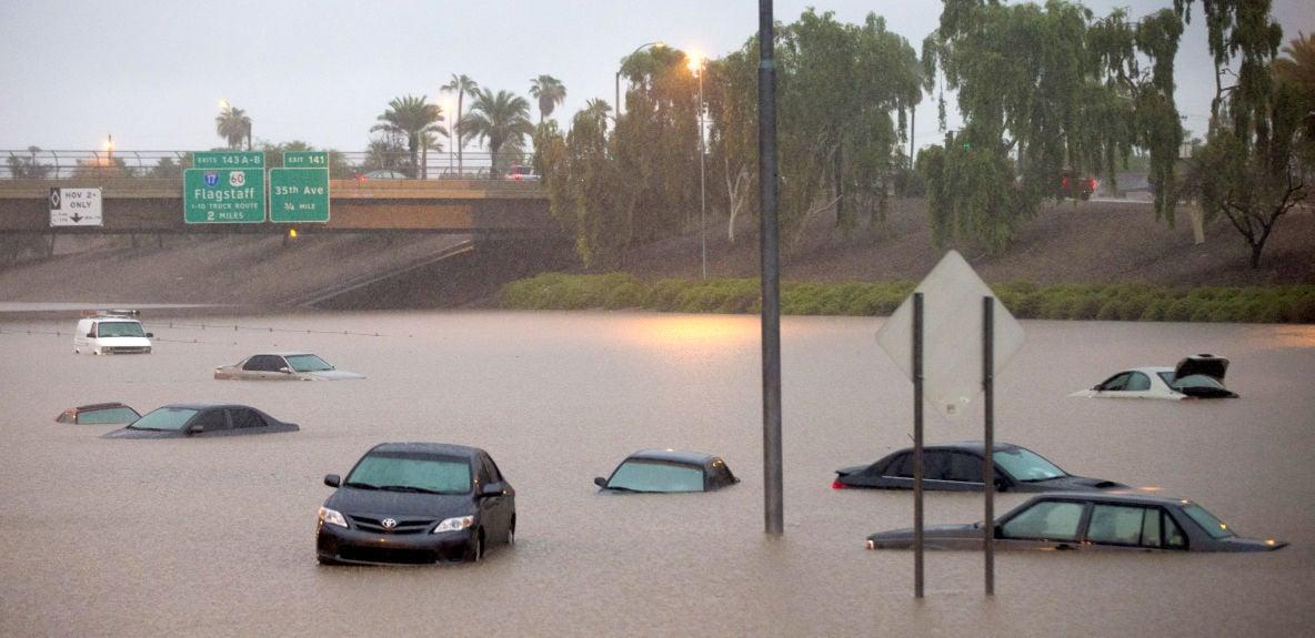 Photos Arizona Rainfall Floods Phoenix And Breaks Record