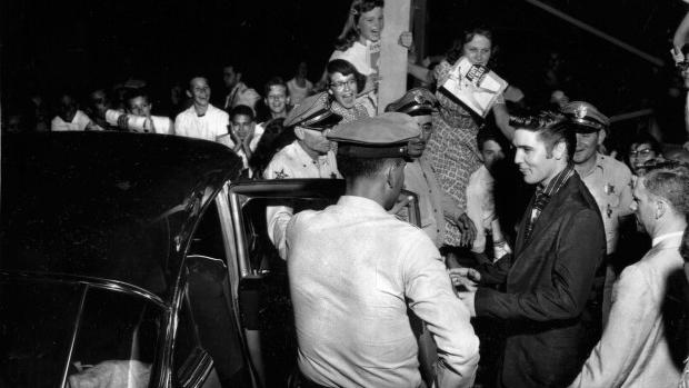 June 10 1956 Elvis Presley Performs At The Rodeo Grounds
