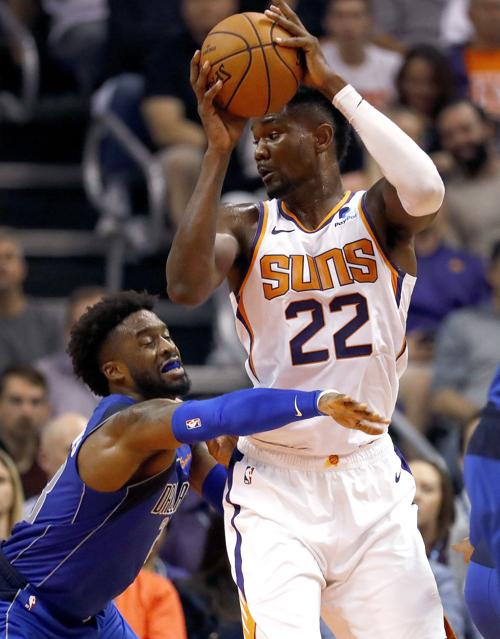 wholesale dealer f8886 b8baf Deandre Ayton posts double-double in Phoenix Suns debut ...