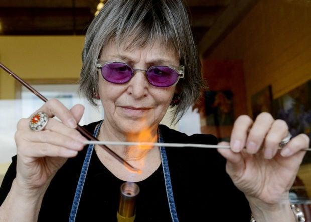 Glass bead artist Louise Little