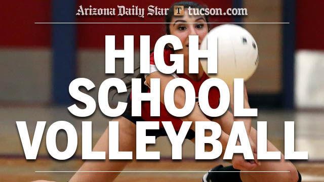 High school volleyball logo — girls