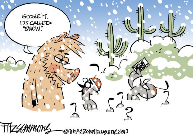 Daily Fitz Cartoon: White stuff