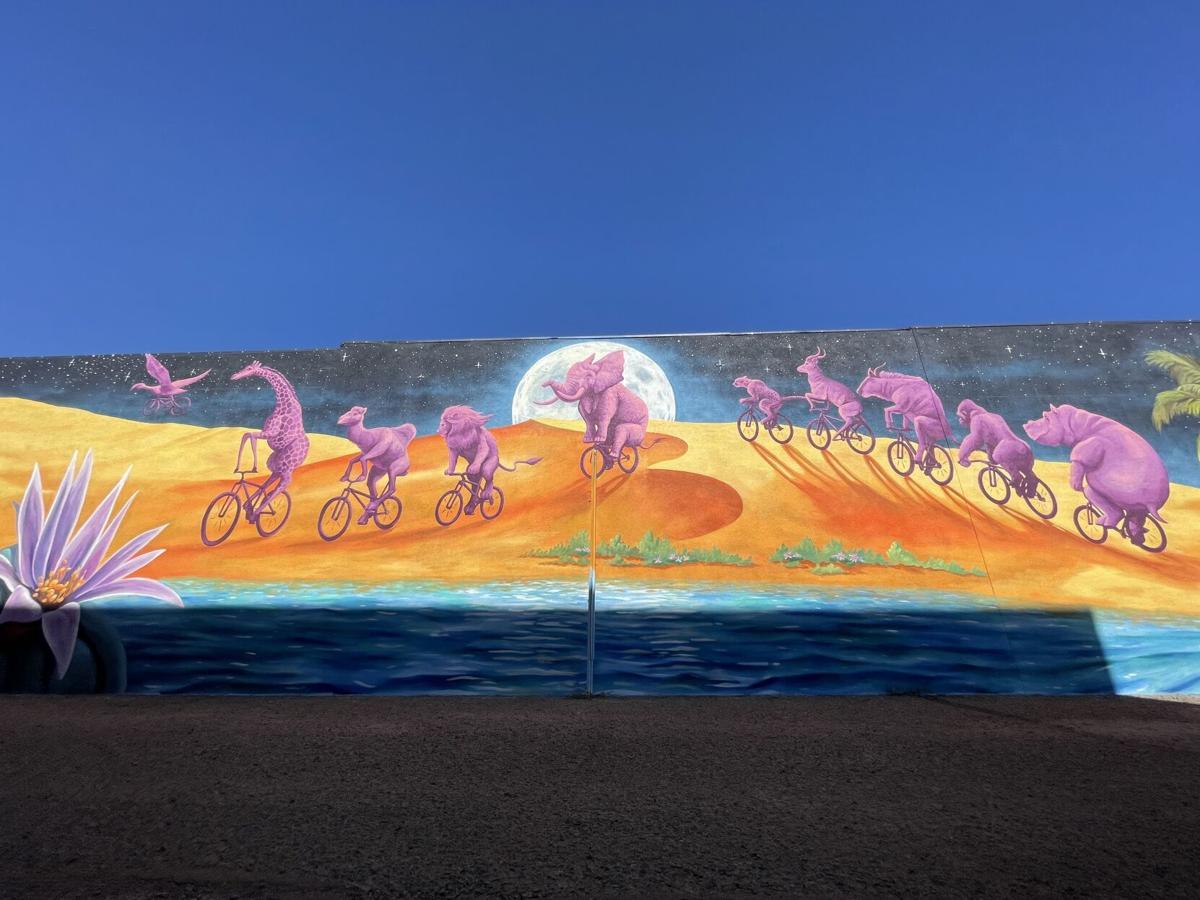 Animal bicycle mural