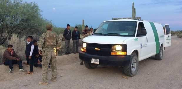 95 migrants from Central America — including a baby — apprehended in Arizona