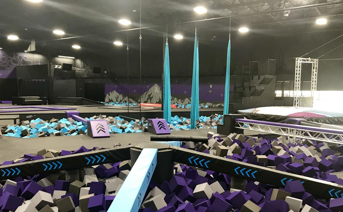 Foam pits and aerial silks