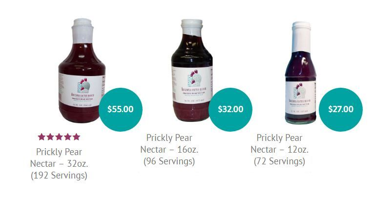 Our products are 100% prickly pear nectar
