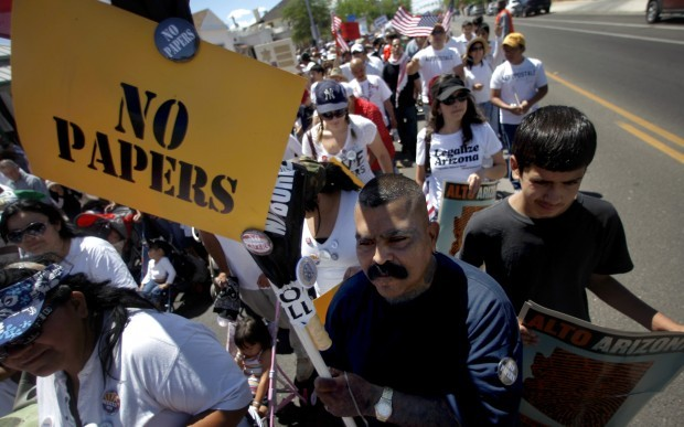 May Day immigration protest march in Tucson