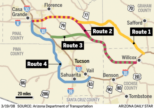 I-10 byp is needed, state study concludes | Government ... Benson Az Interstate Map on california interstate map, az map highways, city of peoria az map, az road map, arizona interstate map, az county map, interstate highway 10 map, interstate 17 map,