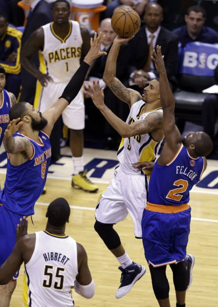 NBA playoffs: Pacers 93, Knicks 82: Hill sets the pace, NY falls farther behind
