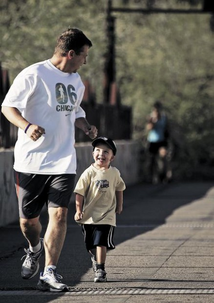 Mac's daddy runs for charity, fitness