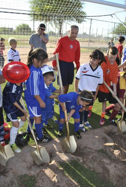 FC Tucson: Kids help break ground for 'our place'