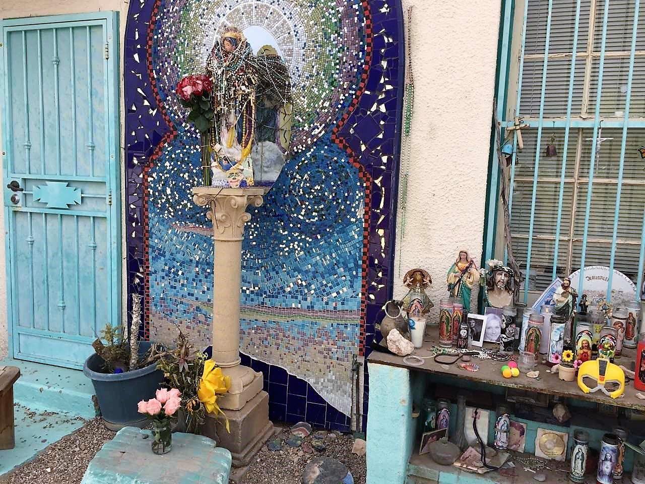 Mini Virgen De Guadalupe Planter