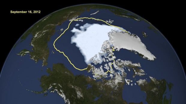 Arctic ice shrinks to all-time low; global warming cited as the cause