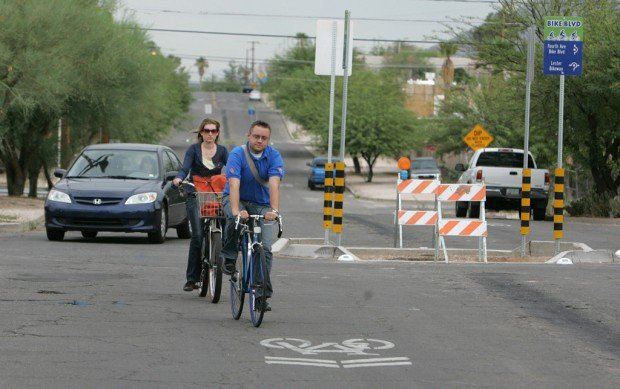 1st 'bike boulevard' here may be a sign of what's down the road