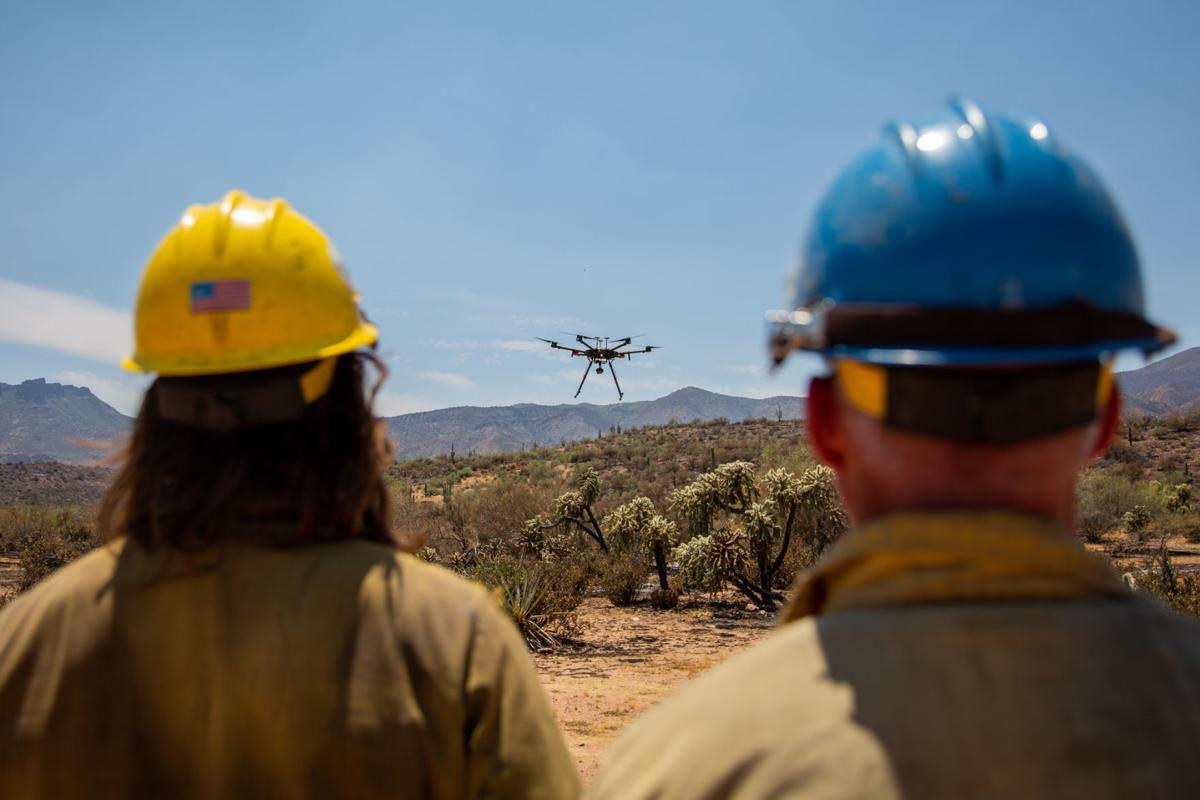 Wildfire drones