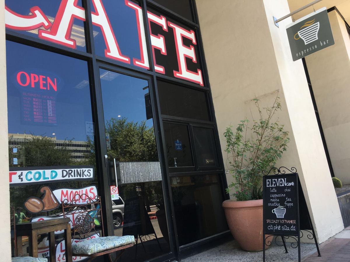Eleven cafe storefront