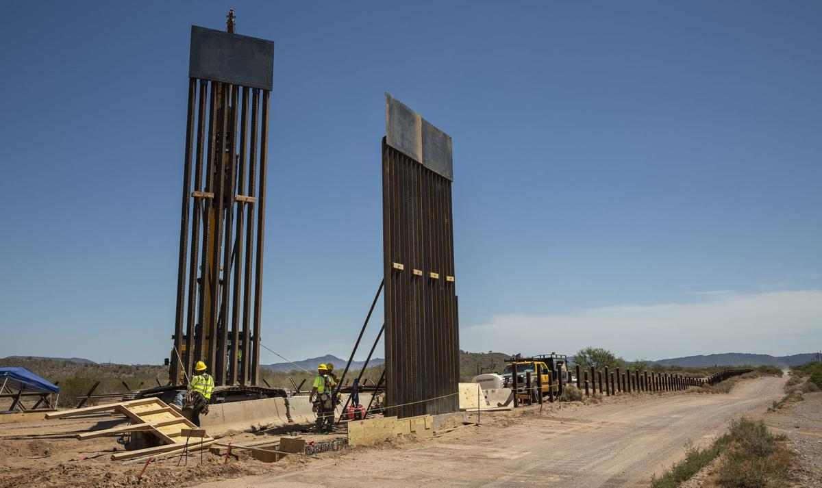 U.S - Mexico border east of Lukeville