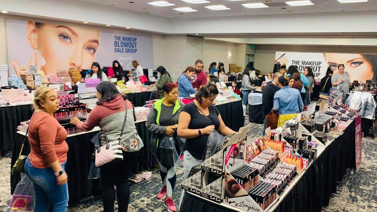 Makeup blow out event