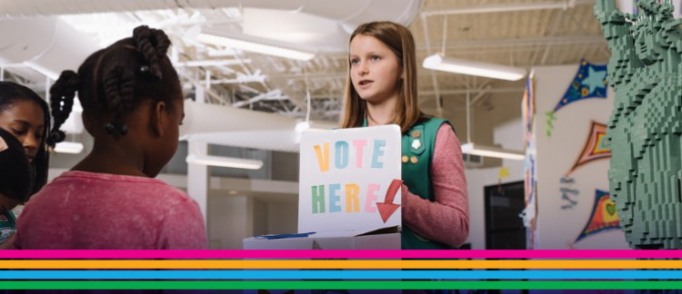 Girl Scouts logo activism