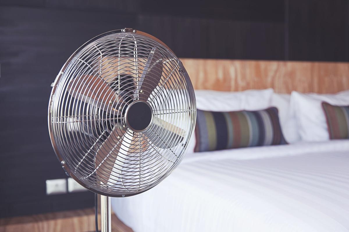 fan in bedroom