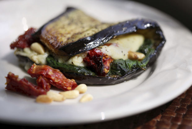 Eggplant wraps provide an unusual, meatless meal