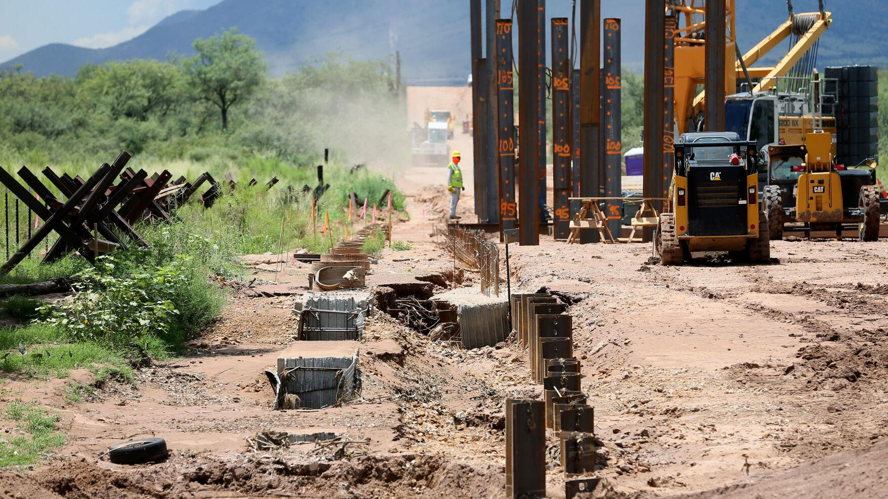 Photos: Monsoon Storm Washes out Border Wall Construction | Local ...