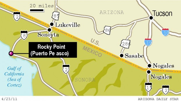 Map: Tucson to Rocky Point
