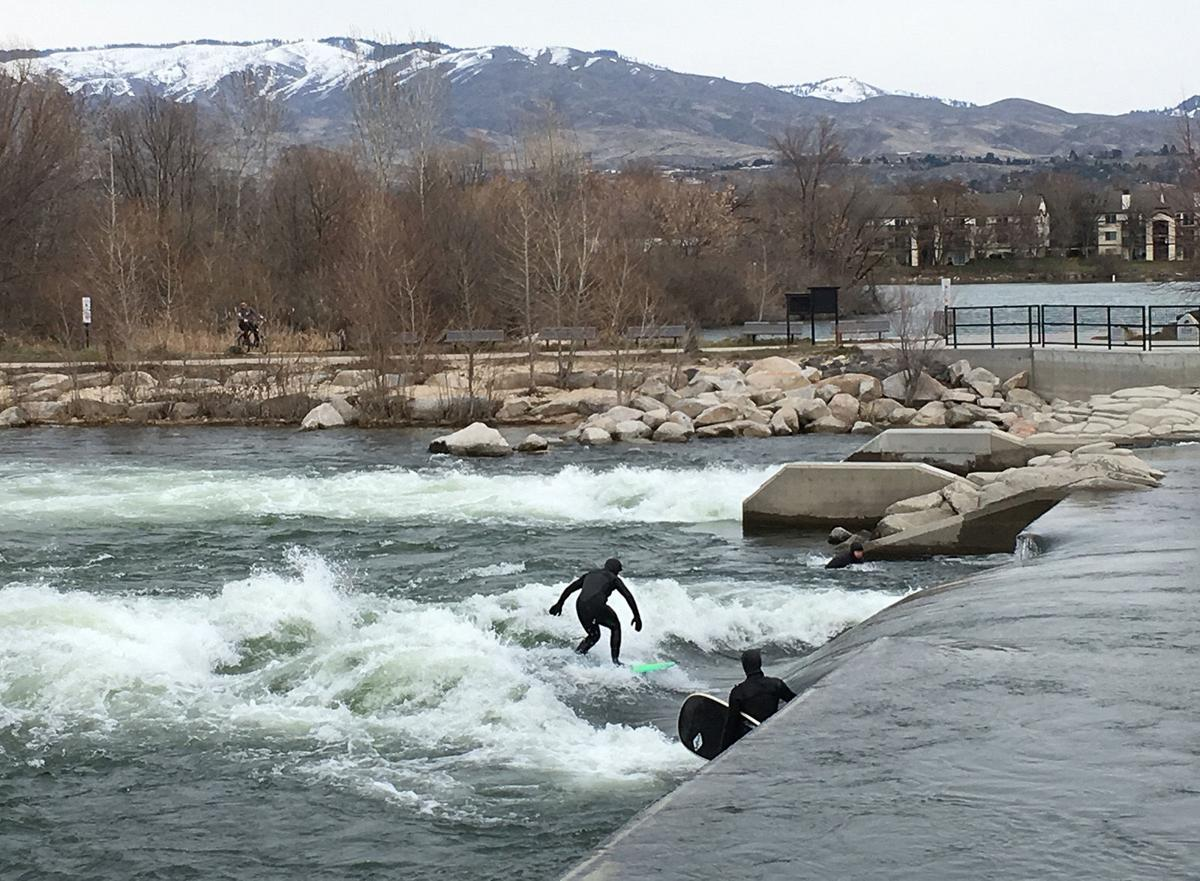 """Among its other surprises, Boise has landlocked surfing at Whitewater Park, with a perpetual, human-made, standing wave. Victor Myers, proprietor of the Corridor Surf Shop, describes it as """"surfing a treadmill, going nowhere fast."""""""