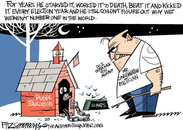 Daily Fitz Cartoon: Public Ed