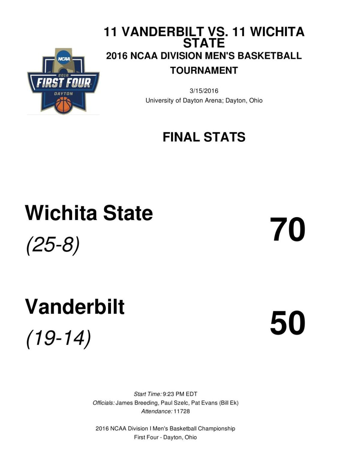 Wichita State-Vanderbilt box score