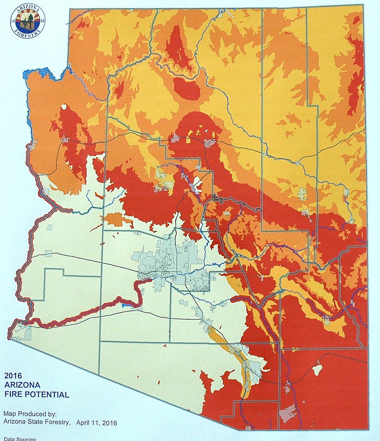 Map Of Wildfires In Arizona Arizona officials preparing for dangerous wildfire season | Local