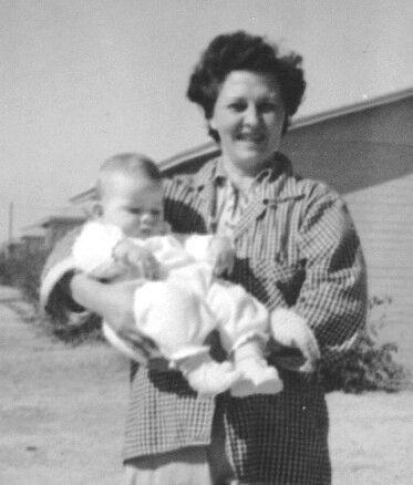 Artha Jean Fitzsimmons and son