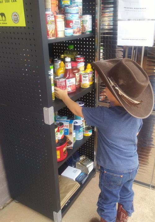 Canelo Cowboy Church's small community food pantry