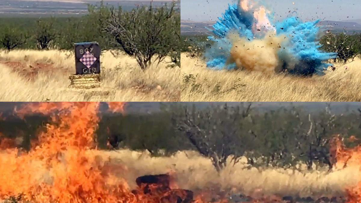 Watch explosion at border agent's gender-reveal party that sparked huge Arizona wildfire