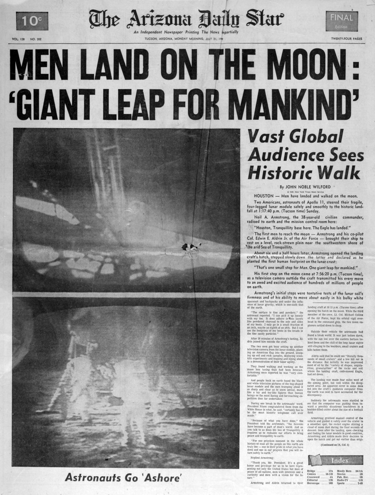 40 Years Ago Today In History May 2020  |Huntsville Newspaper Moon Landing