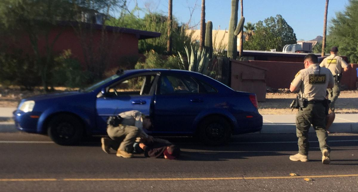 Pima County sheriff's sergeant shields runners from shooting suspect
