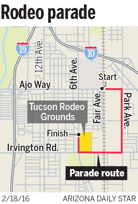 Tucson Rodeo Parade route
