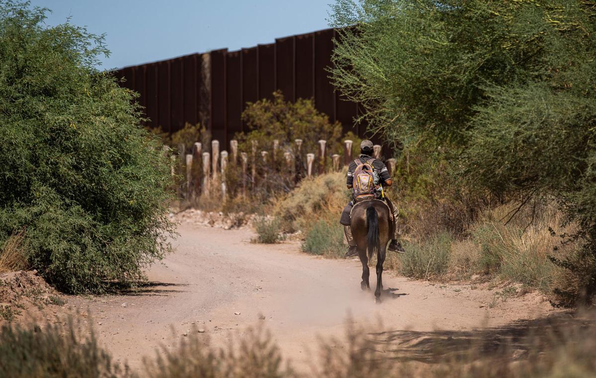 U.S - Mexico border east of Lukeville (LE)